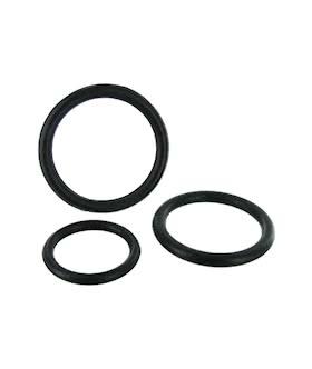 Black Triple Cock Ring Set
