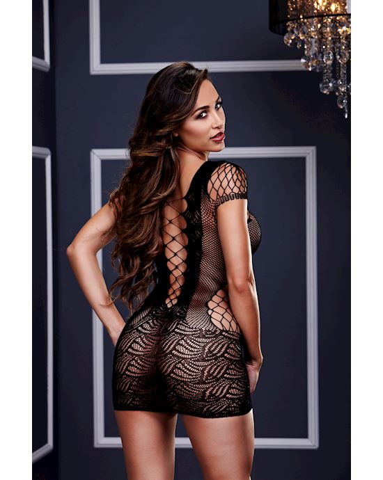 Corset Front Lace Mini Dress O/s